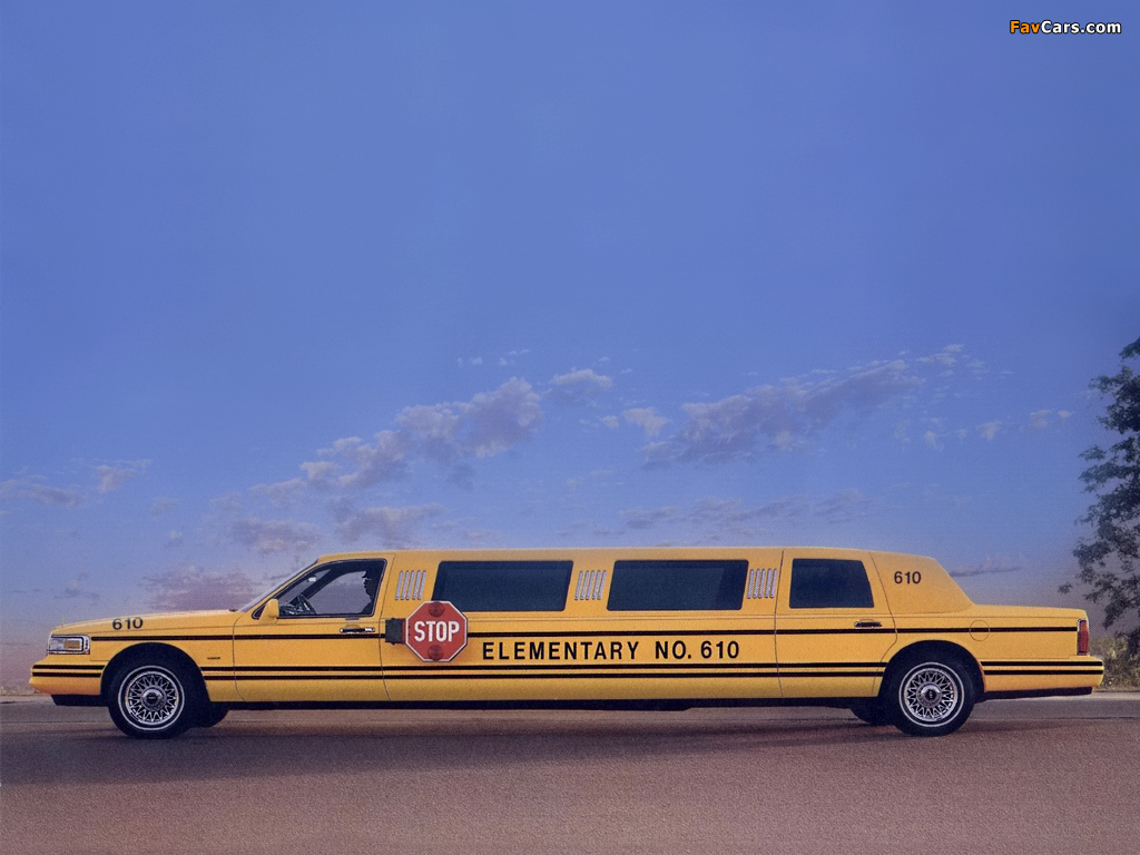 Lincoln Town Car School Bus Limousine 1995 97 Wallpapers