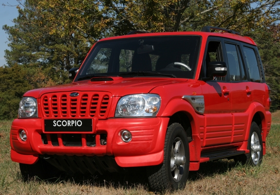 Red Scorpio Car Wallpaper