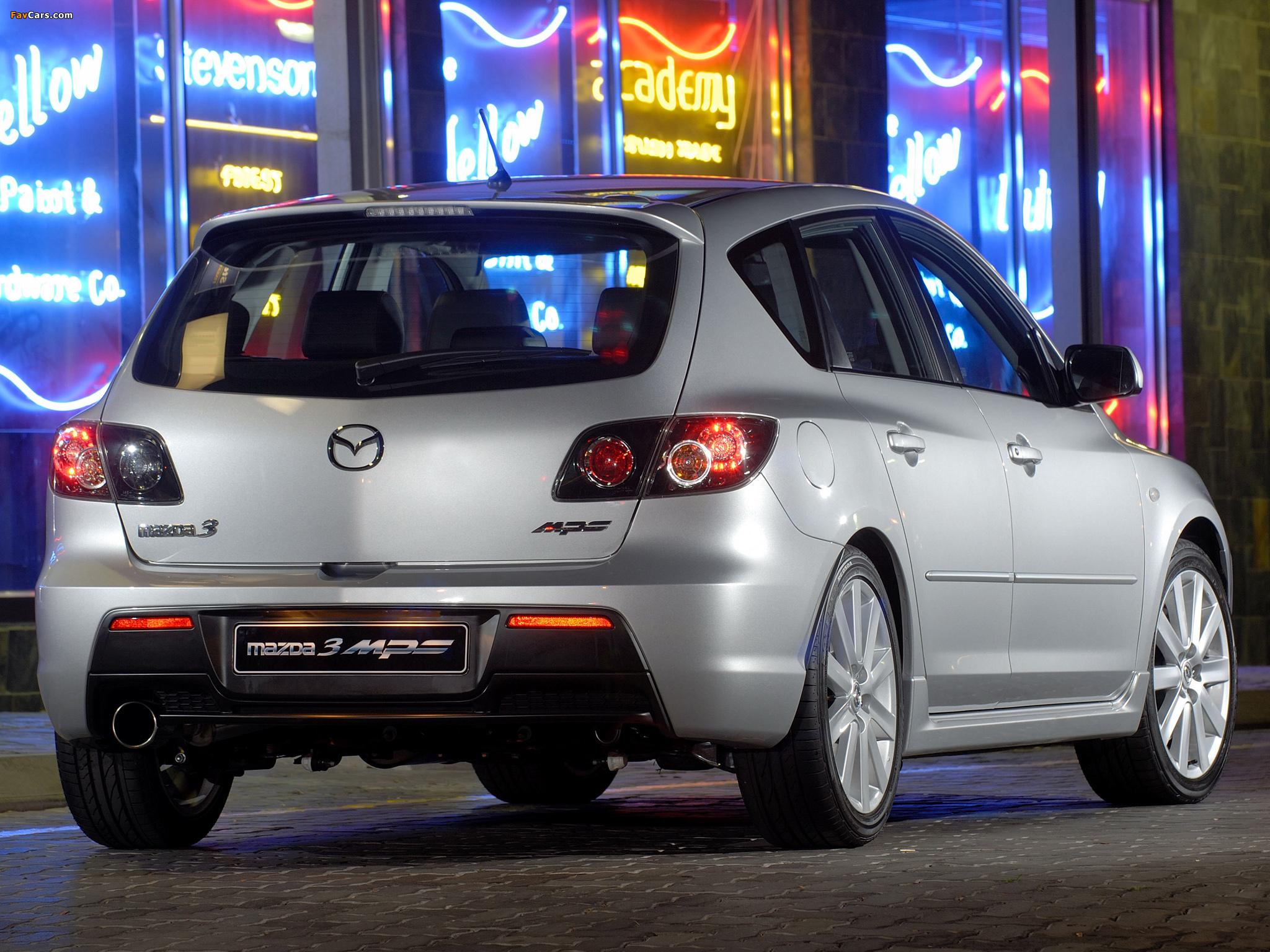 Mazda3 Mps Za Spec Bk 2006 09 Wallpapers 2048x1536