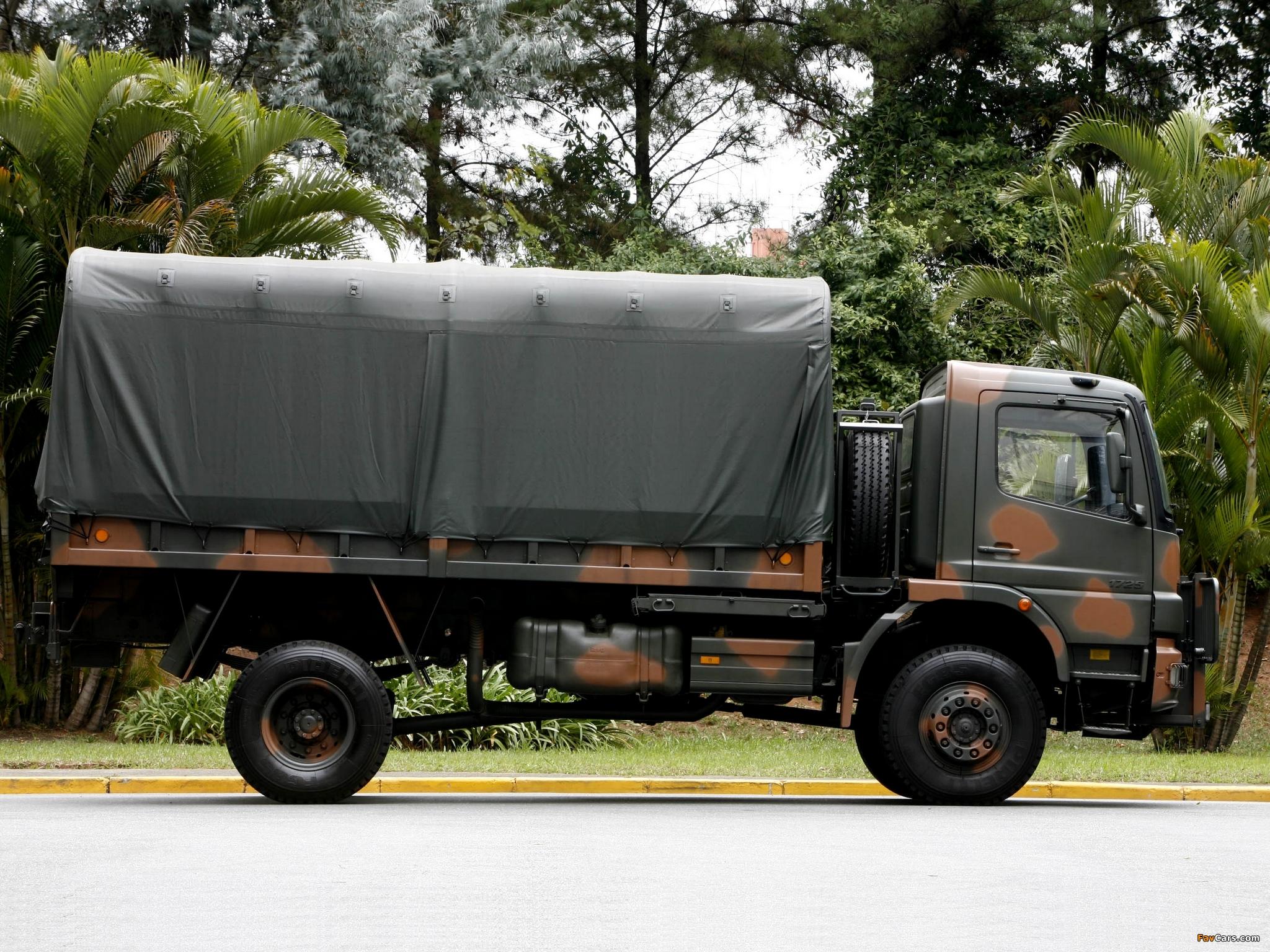 Mercedes Benz Atego 1725 4x4 Military Truck 2005 11