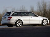 Mercedes-Benz C 180 Kompressor Estate UK-spec (S204) 2008–11 wallpapers