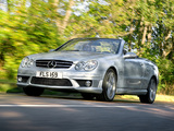 Photos of Mercedes-Benz CLK 63 AMG Cabrio UK-spec (A209) 2006–10