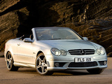 Mercedes-Benz CLK 63 AMG Cabrio UK-spec (A209) 2006–10 wallpapers