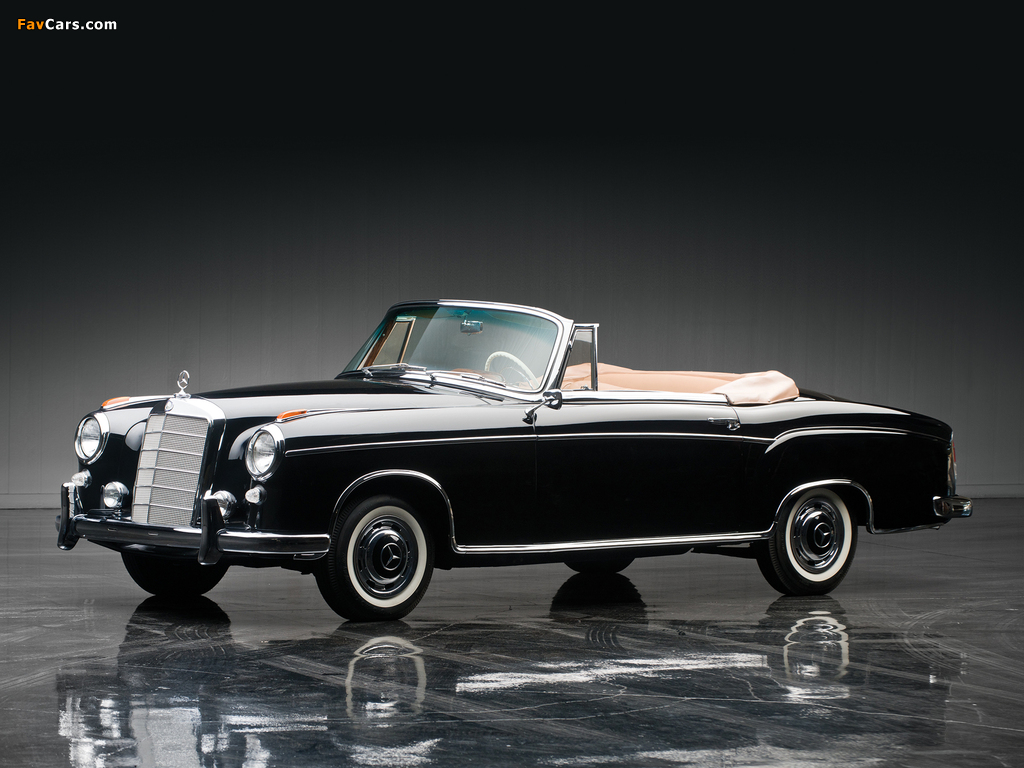 Images of mercedes benz s klasse cabriolet w180 128 1956 for Mercedes benz ponton