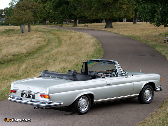 Mercedes Benz 280 Se Cabriolet Uk Spec W111 1967 71 Pictures 269734 640x480 on benz w111