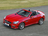 Mercedes-Benz SLK 55 AMG UK-spec (R172) 2012 wallpapers