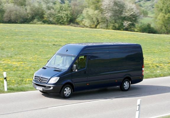 Mercedes Benz Sprinter >> Mercedes-Benz Sprinter LWB High Roof Van (W906) 2006–13 images (640x480)