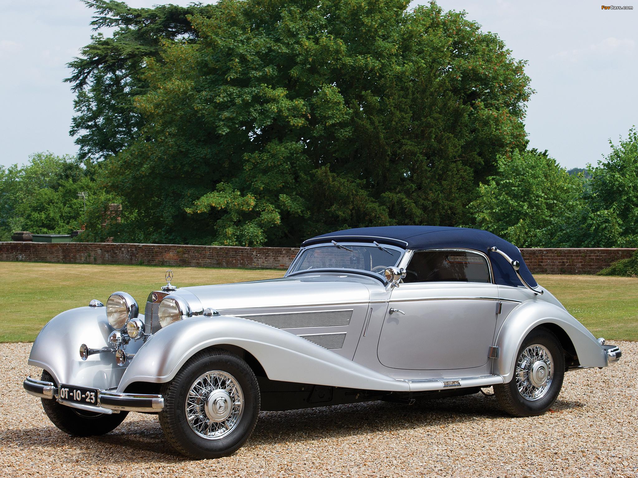Mercedes benz 540k cabriolet a 1937 38 wallpapers 2048x1536