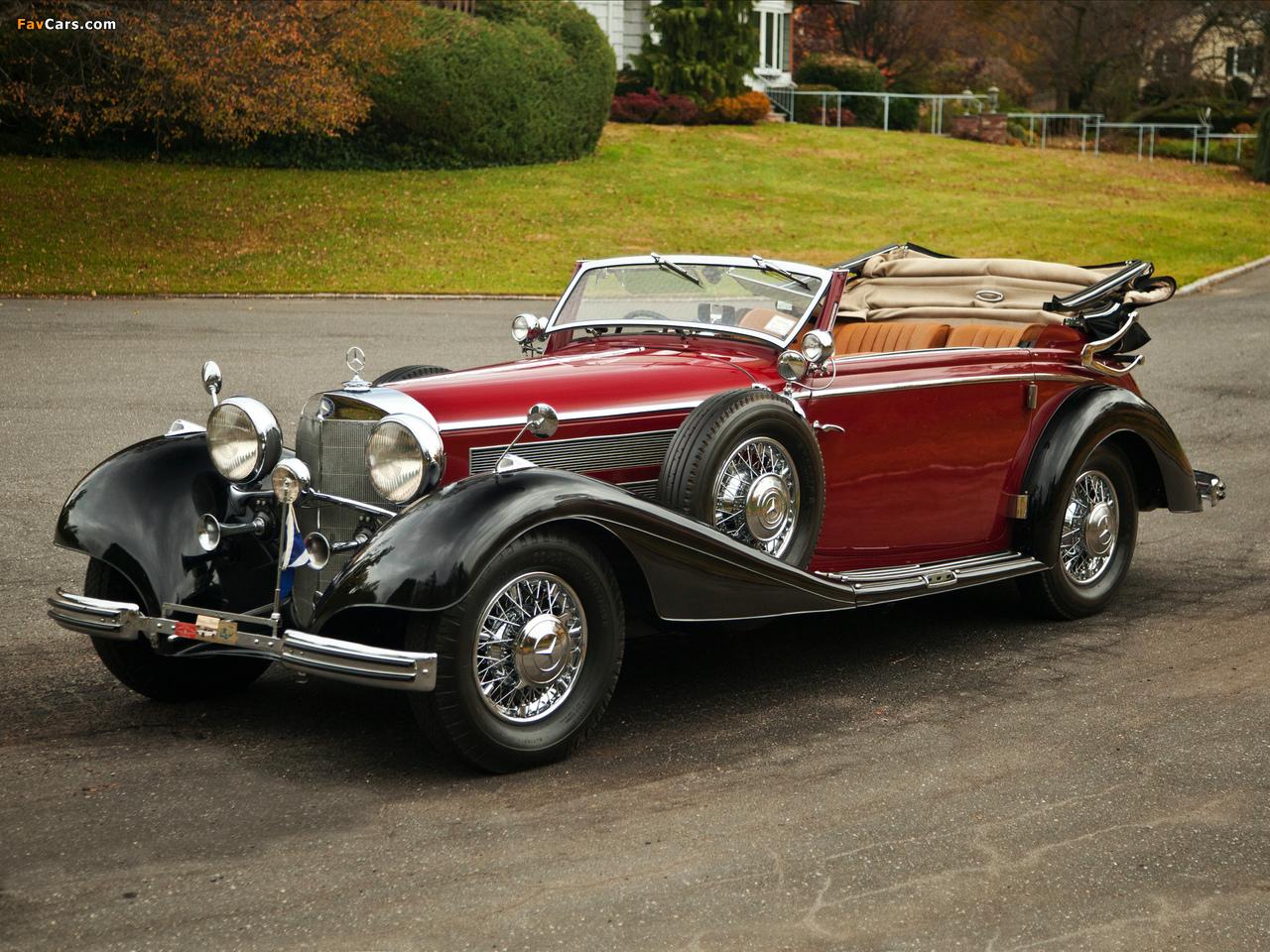 Photos of mercedes benz 540k cabriolet c 1937 38 1280x960