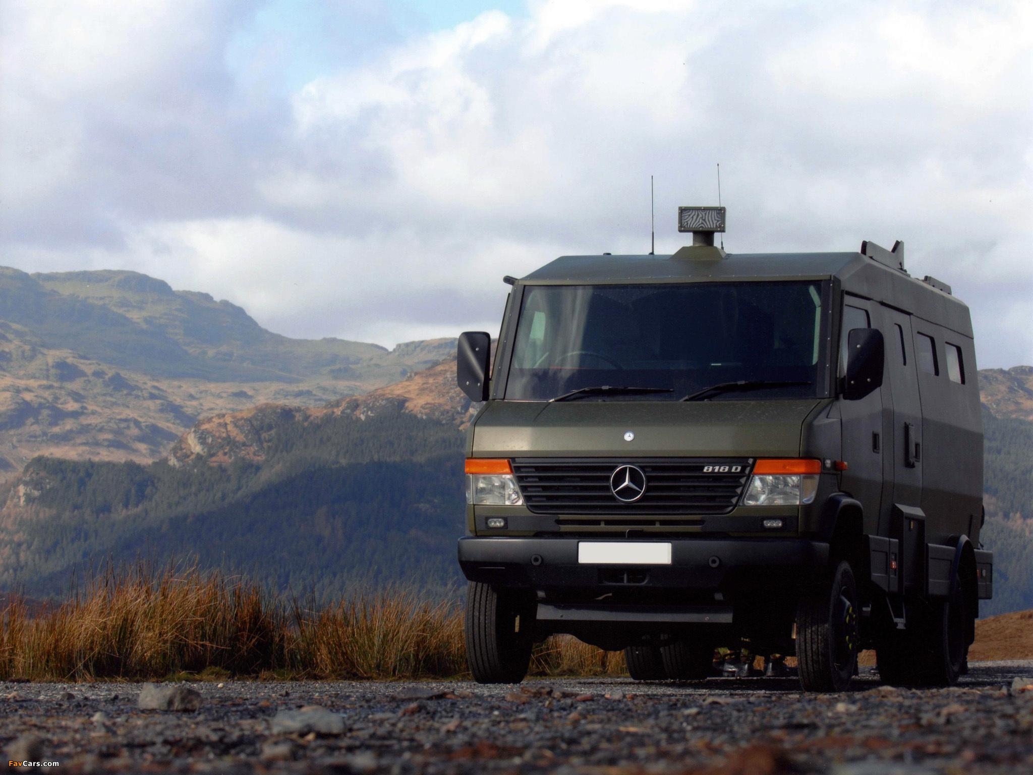 Mercedes benz vario 818da armored truck 670 2006 for Mercedes benz armored