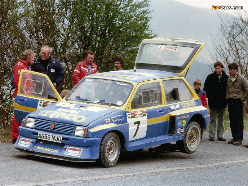 MG Metro 6R4 Group B Rally Car Prototype 1983 pictures (800 x 600)
