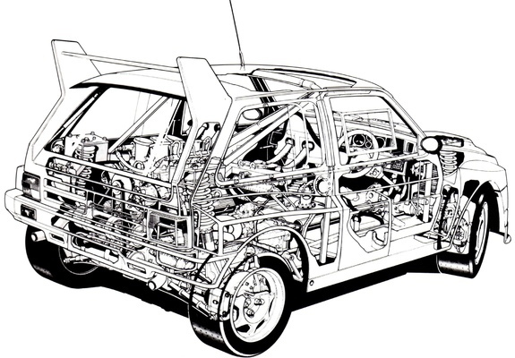 MG Metro 6R4 Group B Rally Car 1984–86 photos