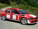 Mitsubishi Lancer Evolution VII WRC 2001–03 wallpapers