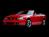 Mustang SVT Cobra Convertible 2002–04 wallpapers
