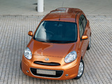 Nissan Micra 5-door UK-spec (K13) 2010 pictures