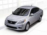 Nissan Versa Sedan (B17) 2011 wallpapers