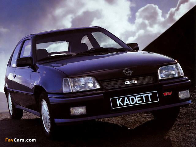 Opel Kadett Gsi 16v 3 Door E 1988 91 Wallpapers 640x480