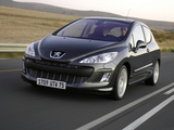 Peugeot 308 3-door 2007–10 images