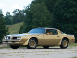 Pontiac Firebird Trans Am Gold Special Edition 1978 pictures