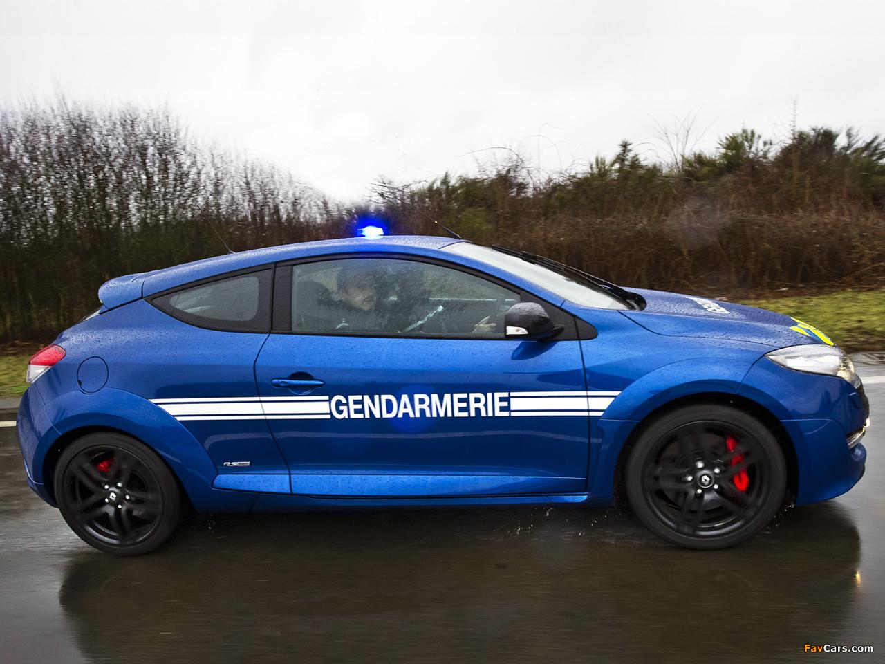 renault megane rs gendarmerie 2010 images 1280x960