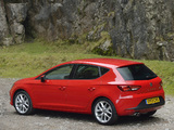 Seat Leon FR UK-spec 2013 images