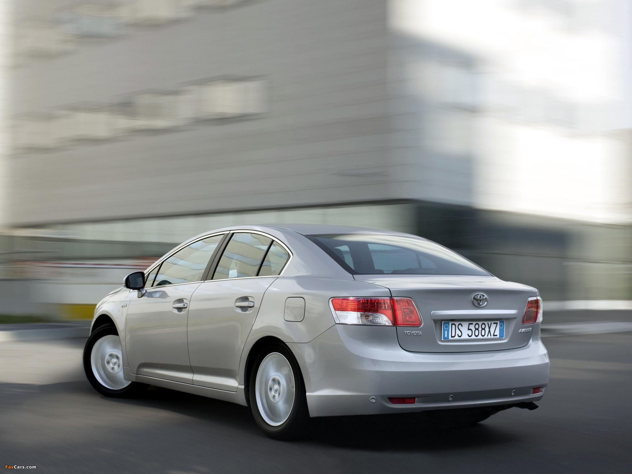 Toyota Avensis Sedan 2008–11 images (2048 x 1536)
