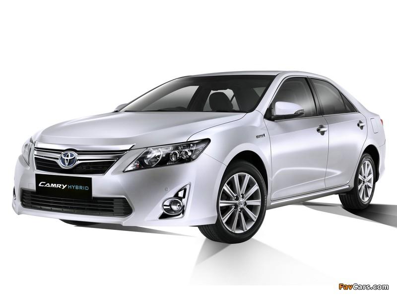 Toyota camry hybrid jp spec 2011 wallpapers 800x600