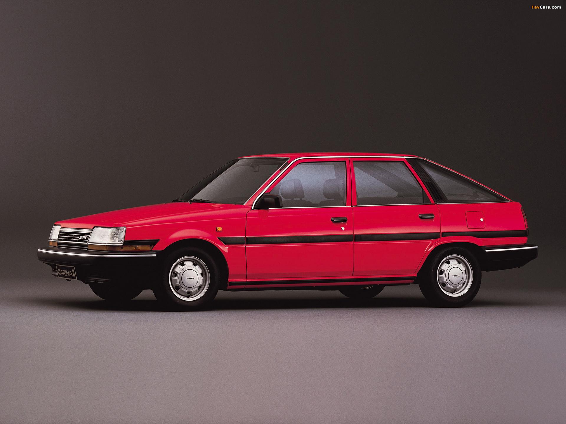 Toyota Carina Ii Liftback T150 1984 87 Photos 1920x1440