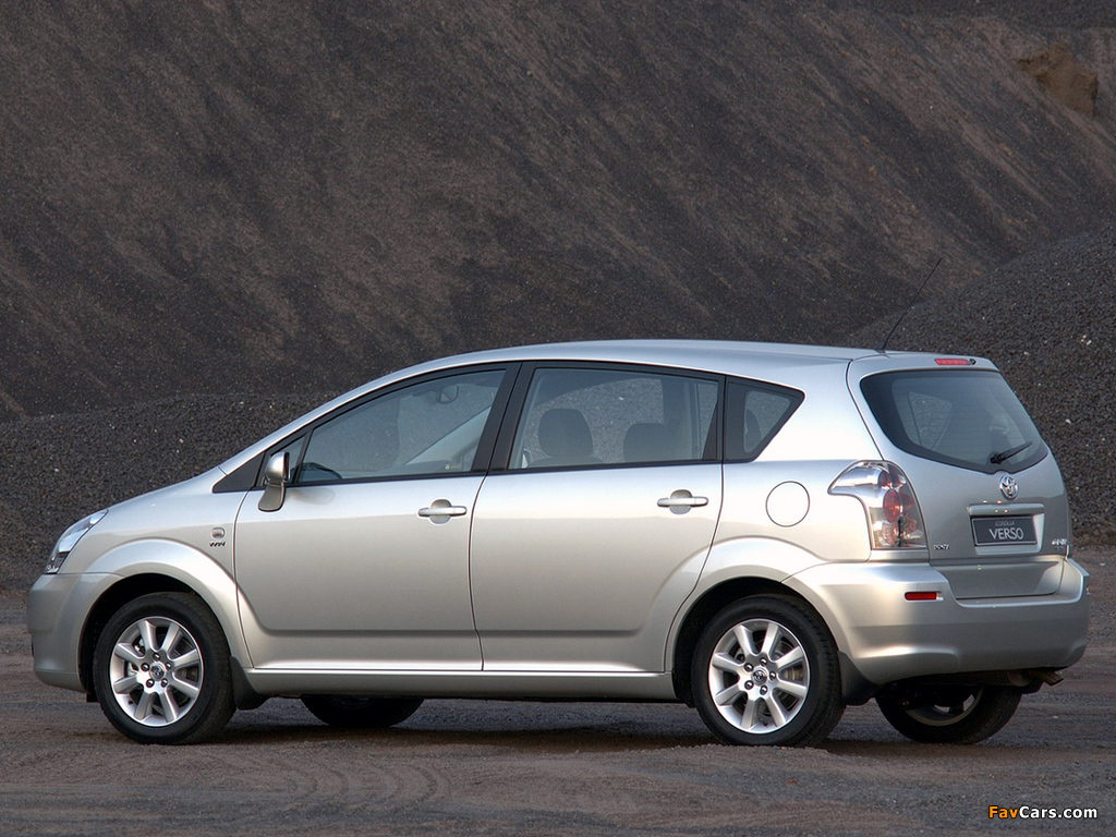 Images Of Toyota Corolla Verso Za Spec 2004 09 1024x768
