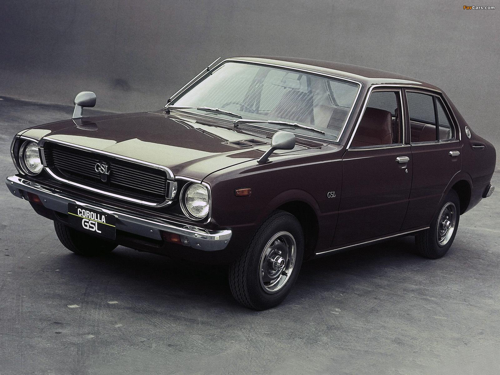 Toyota Corolla 1974 >> Toyota Corolla 4-door Sedan (E31) 1974–79 images (1600x1200)