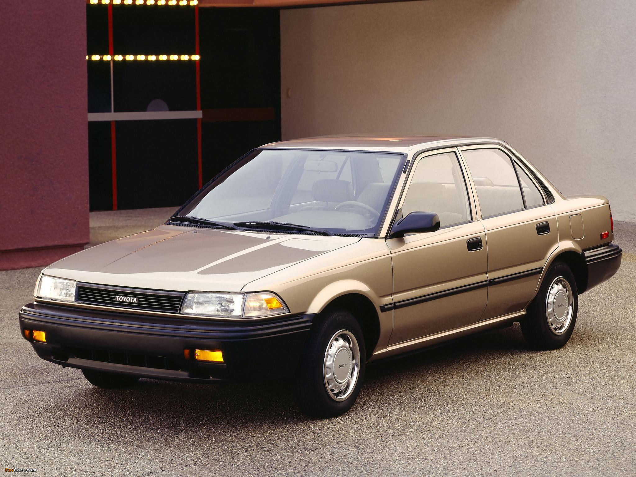 Toyota Corolla Sedan Deluxe Us Spec 1987 91 Photos 2048x1536
