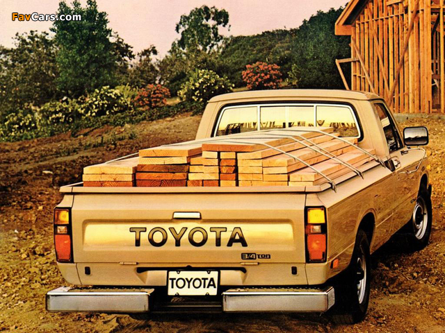 toyota 3 4 ton truck 2wd rn44 1982 83 pictures 640x480. Black Bedroom Furniture Sets. Home Design Ideas