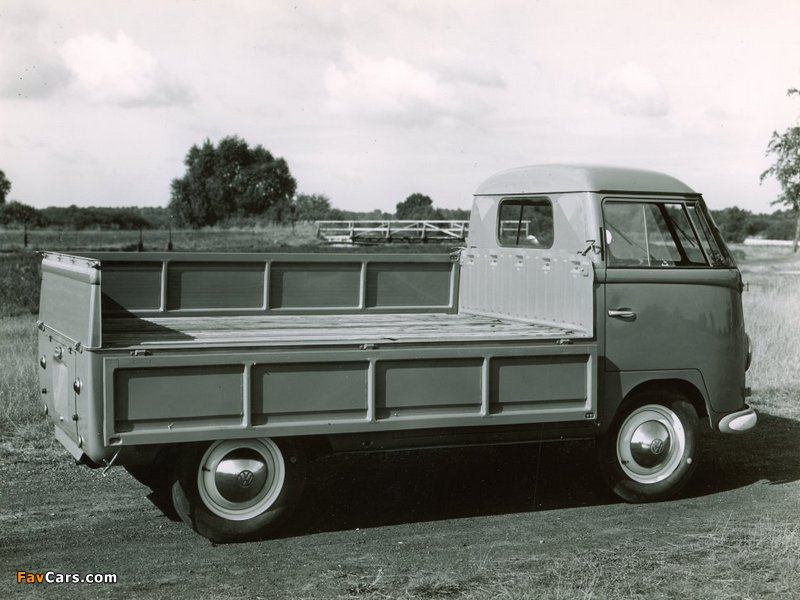 photos of volkswagen t1 single cab pickup 1952�67 800x600