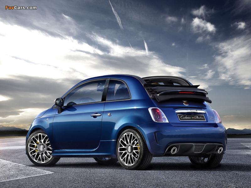 Abarth 500c Cabrio Italia 2011 Wallpapers 800x600