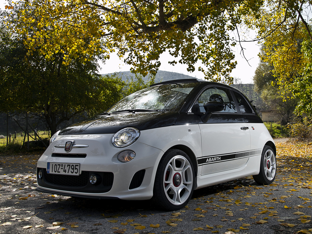 Abarth 500C (2010) wallpapers (1024 x 768)