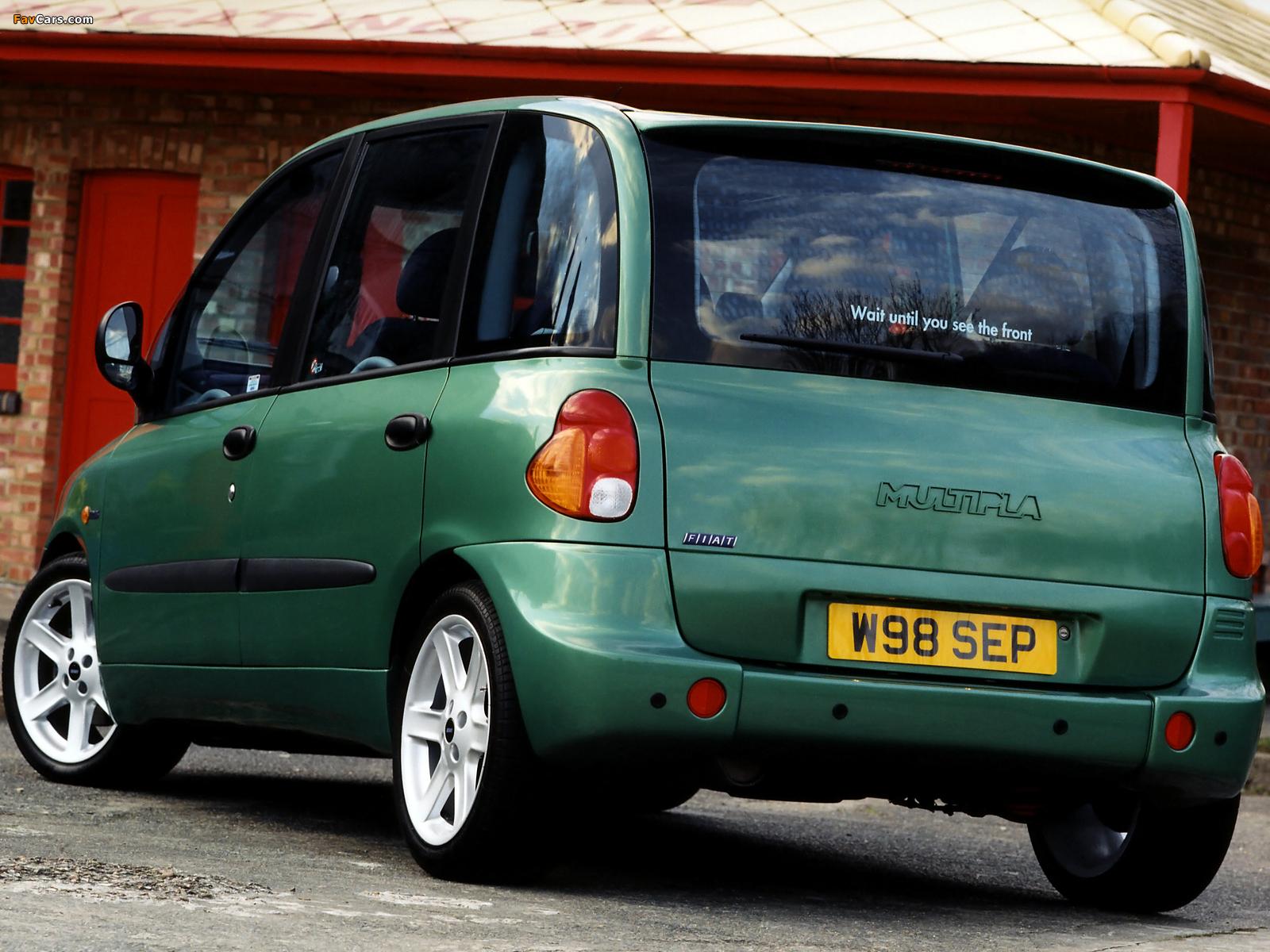 Images of Fiat Multipla Abarth Look UK-spec (2000–2001) (1600 x 1200)