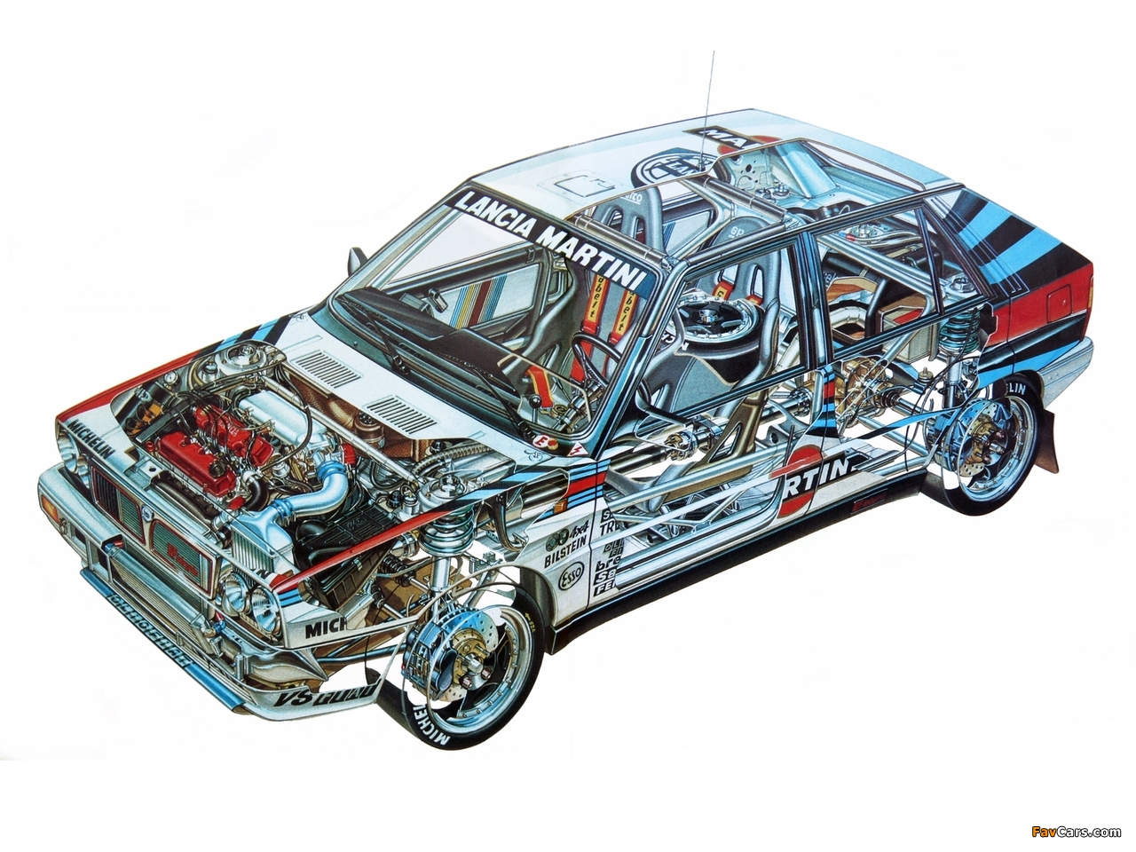 Lancia Delta HF Integrale Gruppo A SE044 (1988–1989) wallpapers (1280 x 960)