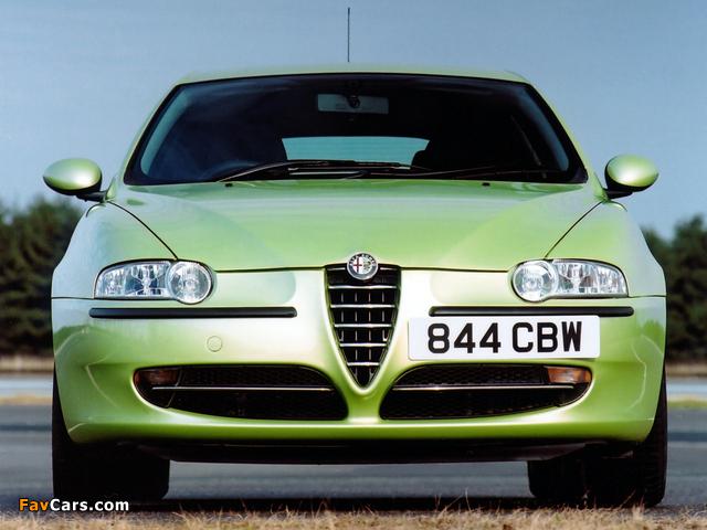 Alfa Romeo 147 3-door UK-spec 937A (2001–2004) images (640 x 480)