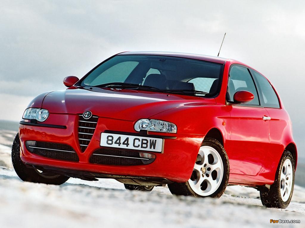 Alfa Romeo 147 3-door UK-spec 937A (2001–2004) pictures (1024 x 768)