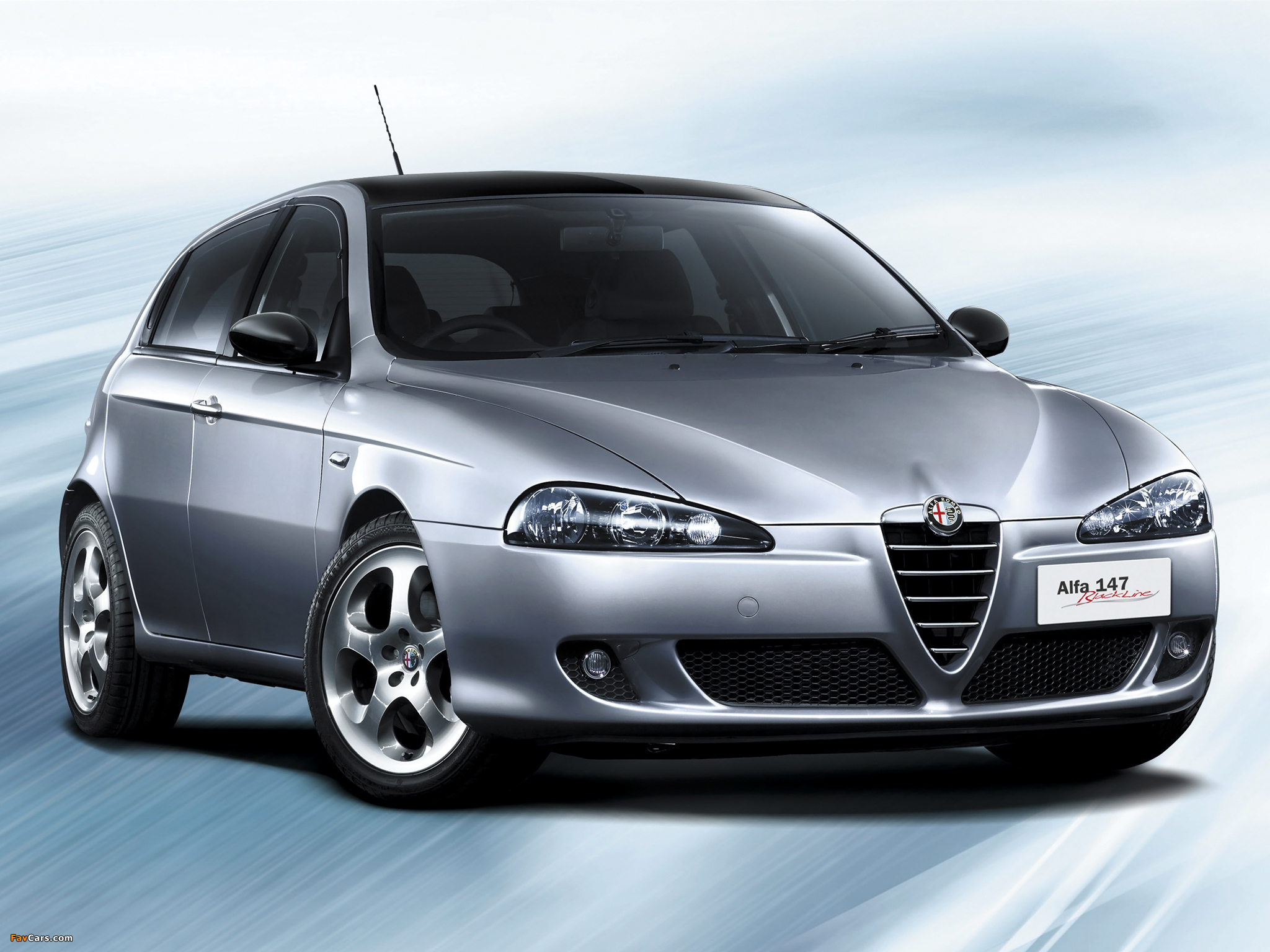 alfa romeo 147 blackline jp spec 937b 2006 pictures 2048x1536. Black Bedroom Furniture Sets. Home Design Ideas