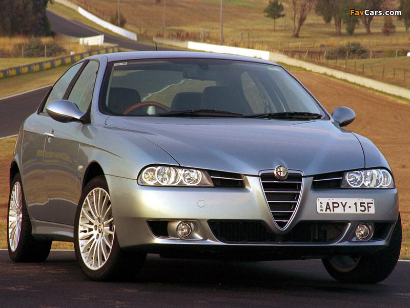 Photos of Alfa Romeo 156 2.0 JTS AU-spec 932A (2003–2005) (800 x 600)