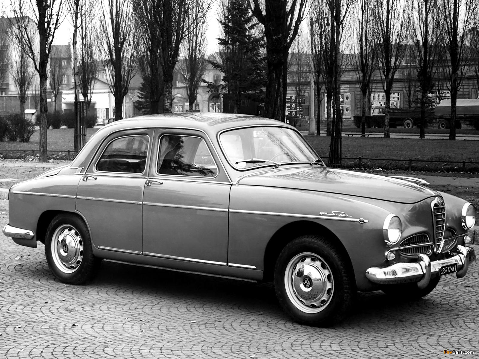 Alfa Romeo 1900 Super Berlina 1483 (1954–1959) wallpapers (1600 x 1200)