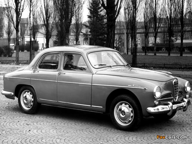 Alfa Romeo 1900 Super Berlina 1483 (1954–1959) wallpapers (640 x 480)