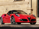 Alfa Romeo 4C Spider North America (960) 2015 images