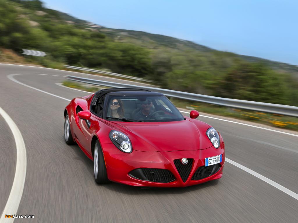 Alfa Romeo 4C Spider (960) 2015 photos (1024 x 768)