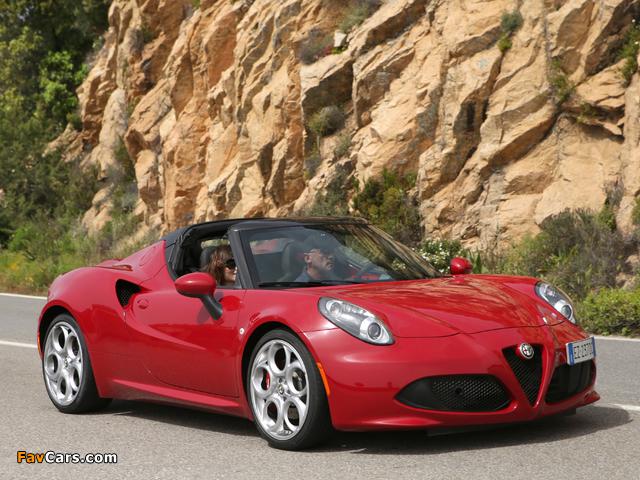 Alfa Romeo 4C Spider (960) 2015 pictures (640 x 480)