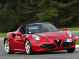 Photos of Alfa Romeo 4C Spider (960) 2015
