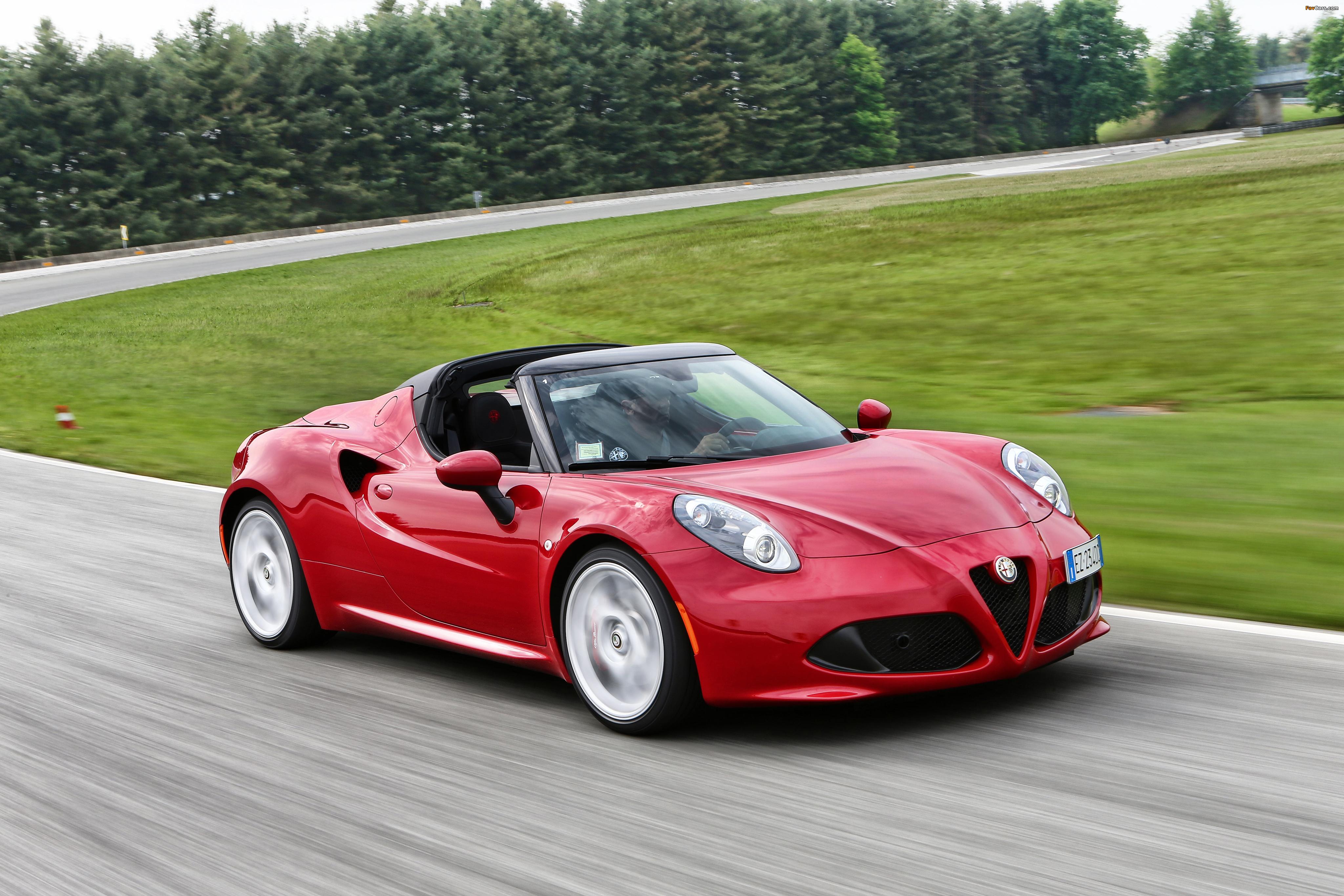 Photos of Alfa Romeo 4C Spider (960) 2015 (4096 x 2731)
