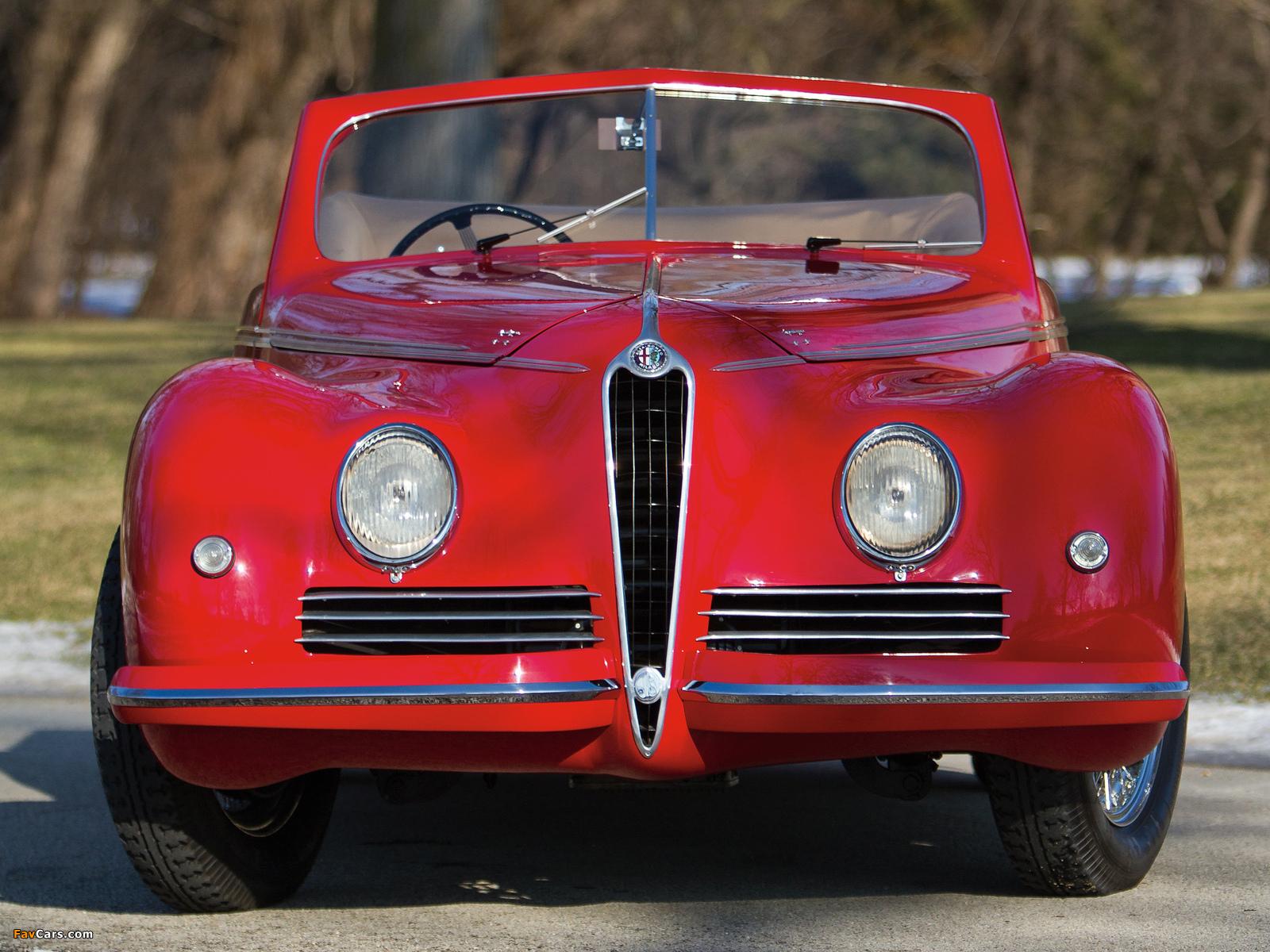 Alfa Romeo 6C 2500 Sport Cabriolet (1942) wallpapers (1600 x 1200)