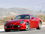 Alfa Romeo 8C Competizione US-spec (2008) wallpapers